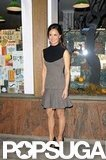 Pippa Middleton wore black heels to attend the event in London.