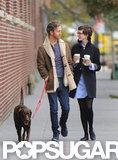 Anne Hathaway and husband Adam Shulman were in Brooklyn.