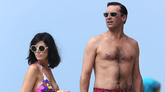 Video: Aloha! Jon Hamm Goes Shirtless in Hawaii For Mad Men Season 6!