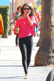 Alessandra Ambrosio strutted down the street.