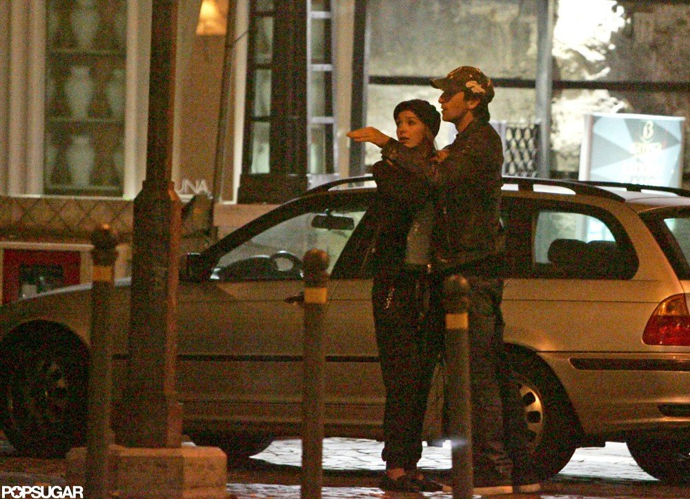 Adrien Brody wore a cap to step out with Lara Lieto in Rome.