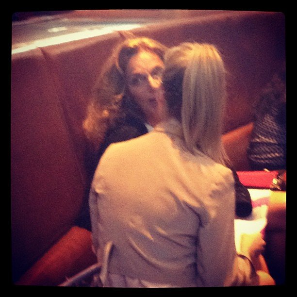 FabSugar editor Ali having a chat with the amazing Diane von Furstenberg. No biggie.