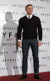 Daniel Craig posed for photos at the Skyfall photocall in Rome.
