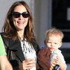 Jennifer Garner Getting Coffee With Baby Samuel