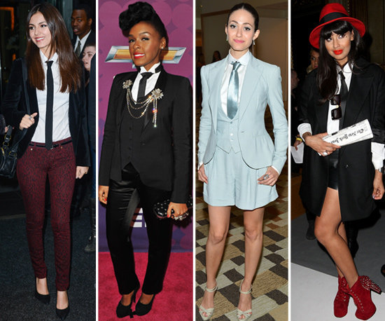 These celebs suited up with ties — would you?