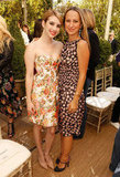 Both Emma Roberts and Jennifer Meyer opted for sweet floral dresses.