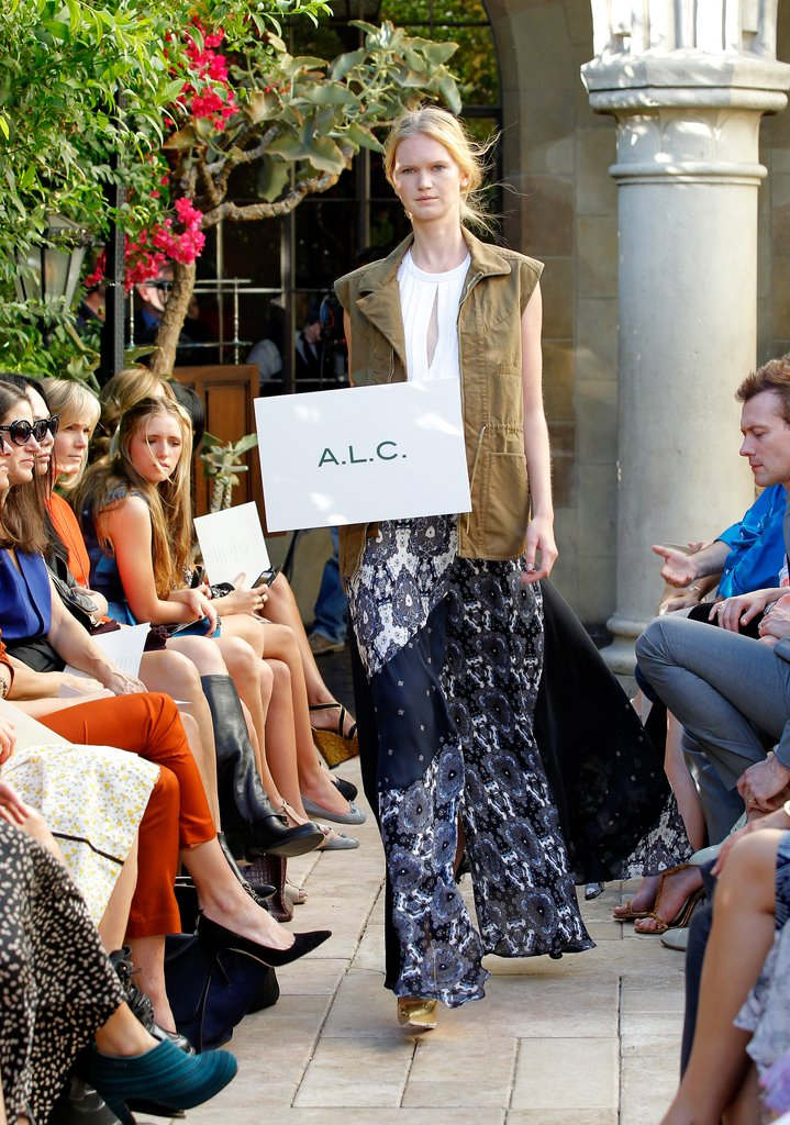 A.L.C. showed a cool-girl anorak layered over a breezy maxi skirt.