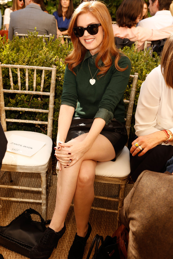 Isla Fisher was all smiles waiting for the show.