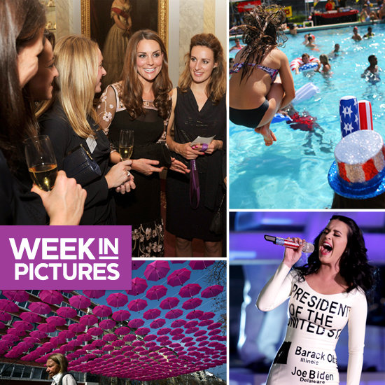 Kate Bonds With Team GB, Students Have Patriotic Pool Time, and Katy Sings For Obama