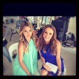 Jesinta Campbell and Natalie Gruzlewski spent a day filming. Source: Instagram user jesinta_campbell