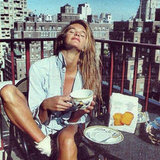 Elle Macpherson shared this 1981 picture on Twitter. Elle, on a rooftop, in New York. Siiiigh. Source: Instagram user ellemacpherson