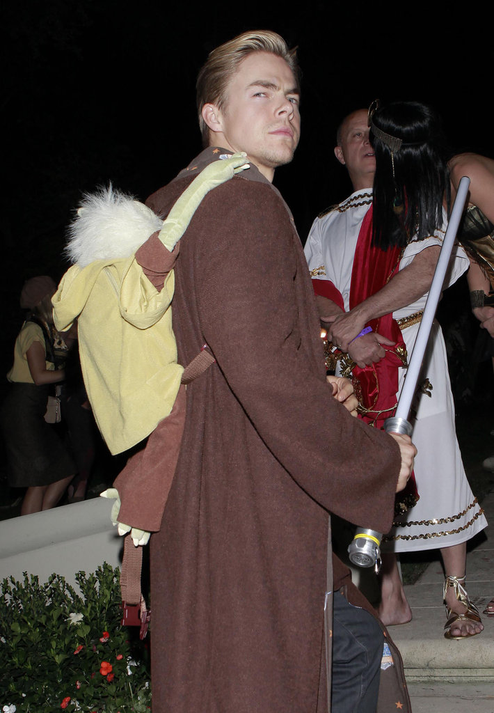 Derek Hough went the Star Wars route for Halloween, Yoda and all.