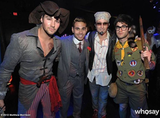 Matthew Morrison donned a vintage Justin Timberlake costume, while his Glee costar Darren Criss went as Sam from Moonlight Kingdom. Source: Matthew Morrison on WhoSay