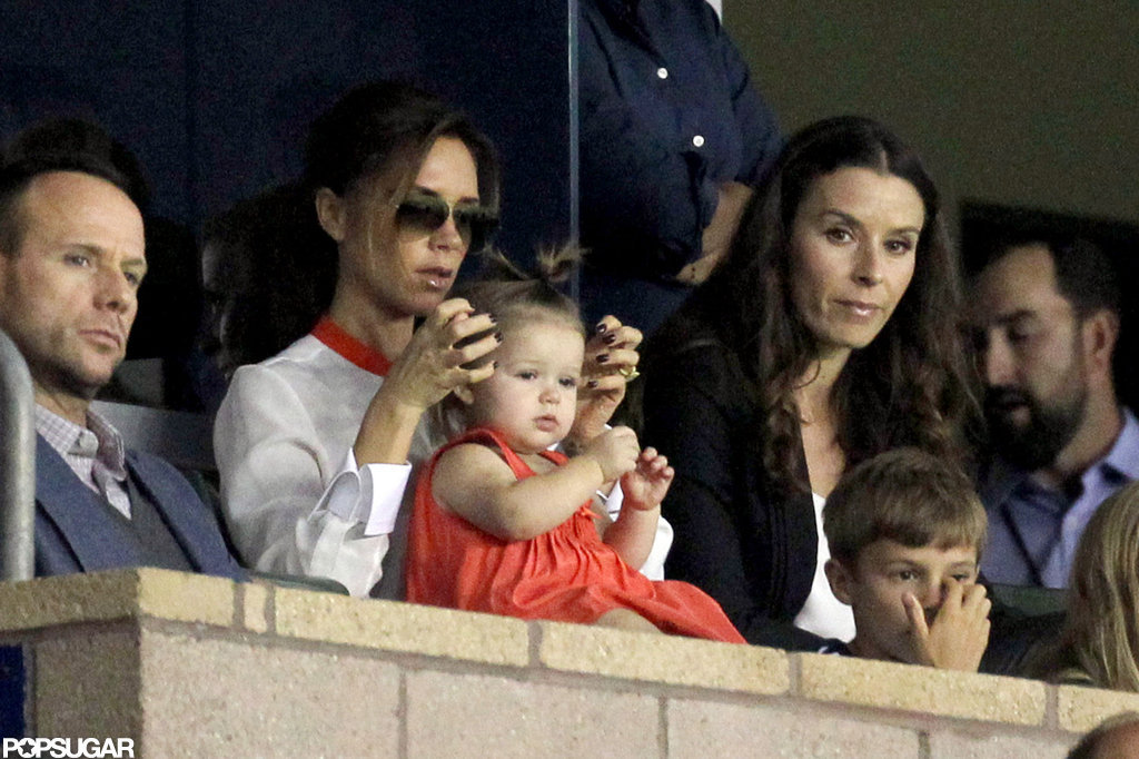 Victoria Beckham watched soccer in LA.