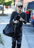 Miley Cyrus sported over-the-knee boots in Burbank.