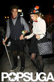 Lauren Conrad dressed up as Mary Poppins for her Sunday night out in LA with boyfriend William Tell.