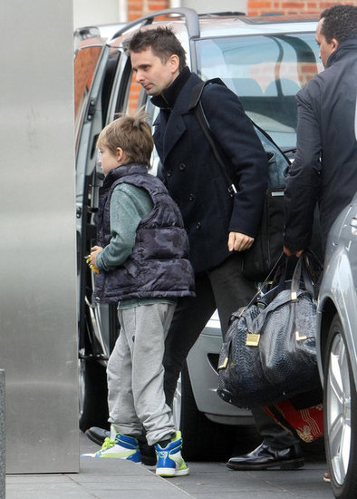 Matthew Bellamy walked with Ryder in London.