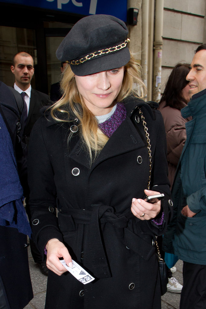 Diane Kruger kept warm in Paris.