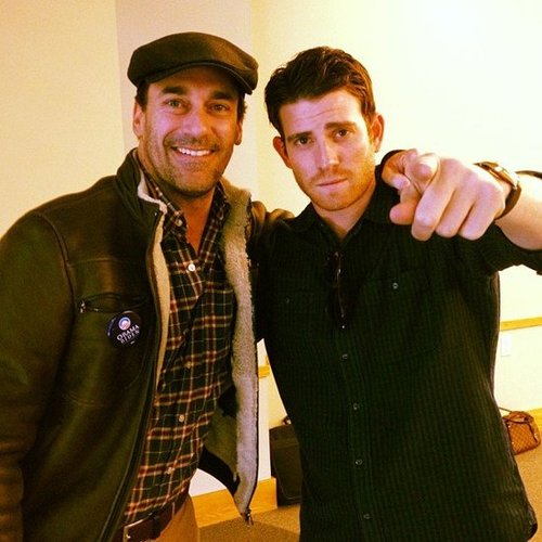 Jon Hamm and Bryan Greenberg got out the vote. Source: Instagram user bryangreenberg
