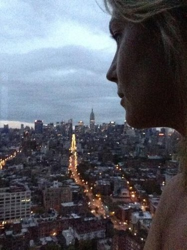 Heidi Klum took in the view of NYC. Source: Twitter user heidiklum