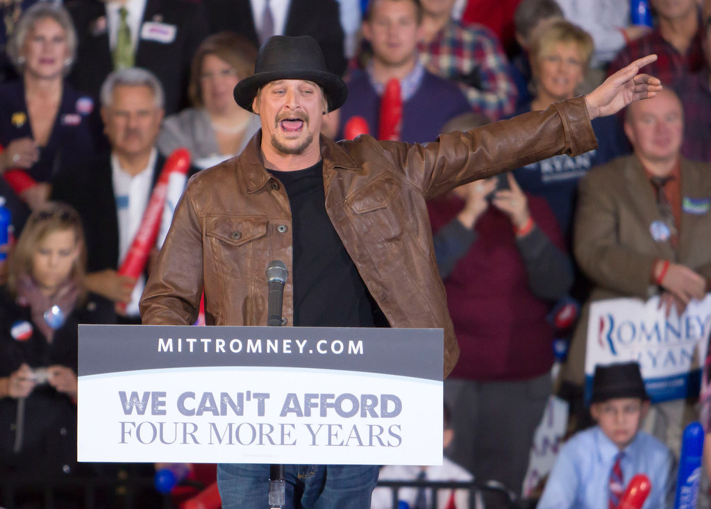 Kid Rock introduced Michigan voters to vice presidential candidate Paul Ryan.
