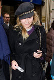 Diane Kruger held onto her iPhone in Paris.