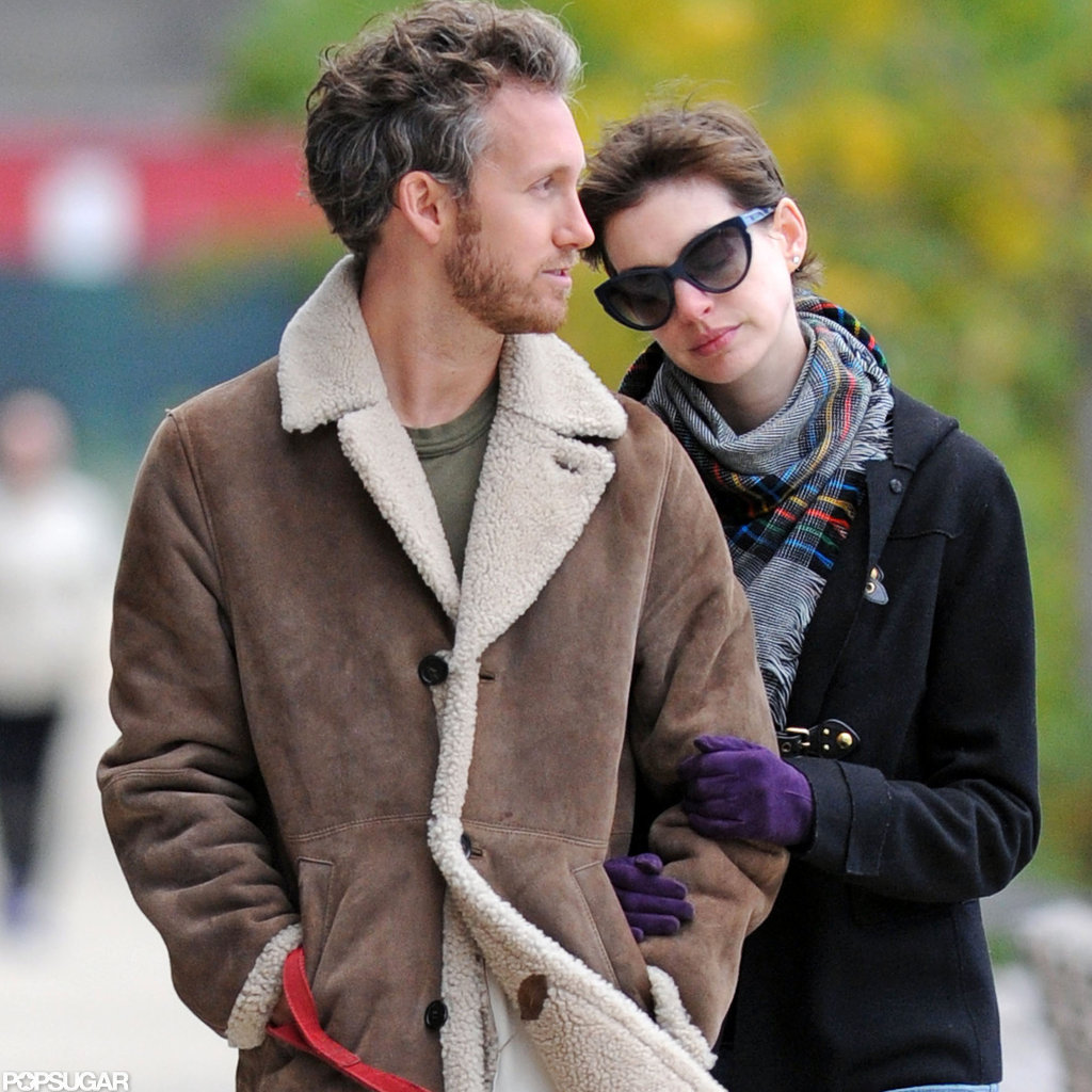 Adam Shulman and Anne Hathaway spent some time together in Brooklyn.