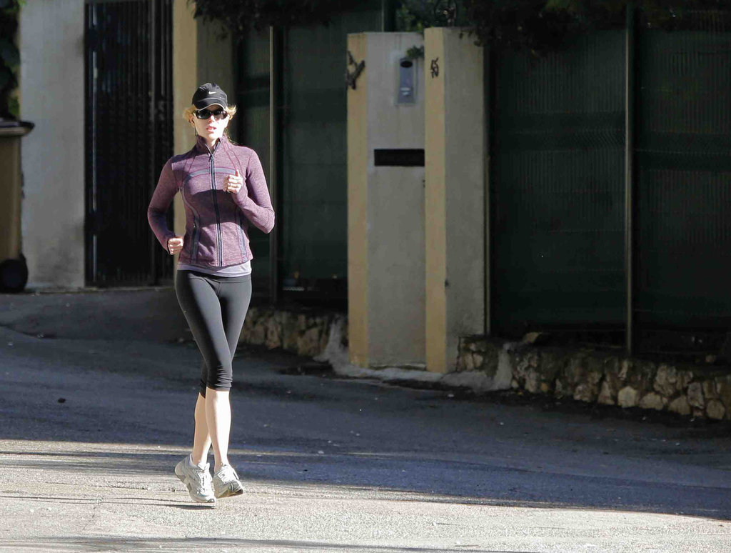 Nicole Kidman went for a solo jog on her day off.