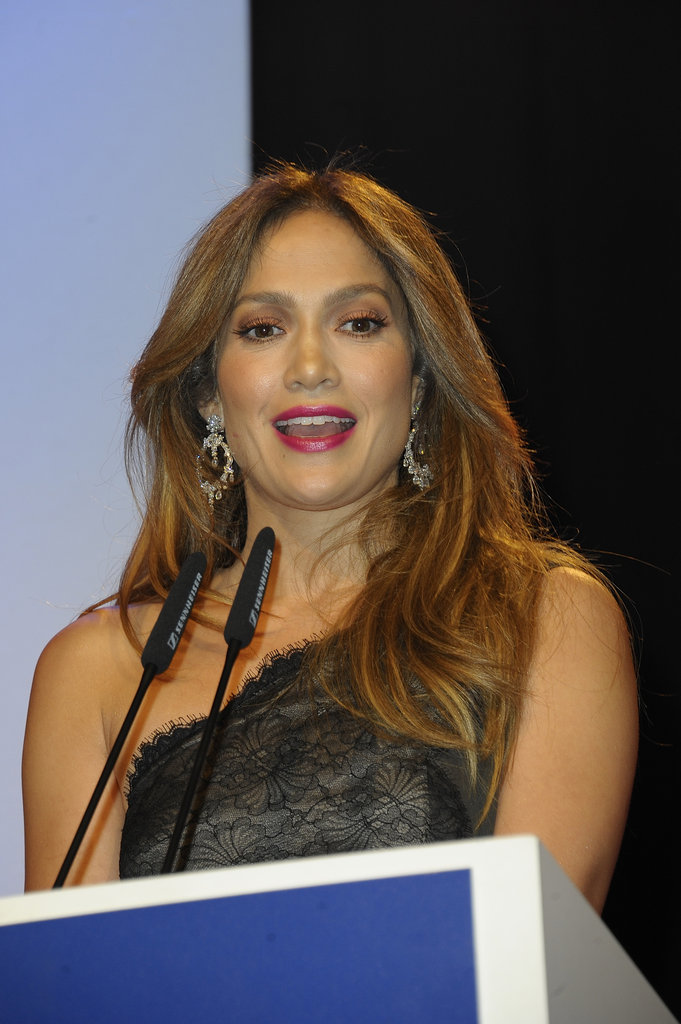 Jennifer Lopez took the stage at the UNESCO Charity Gala.