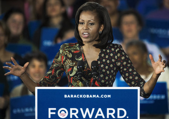 On the Trail With Michelle Obama: First Lady Talks Date Night and Second-Term Plans
