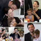 Jennifer Garner and Ben Affleck Decorate Cakes With Their Girls