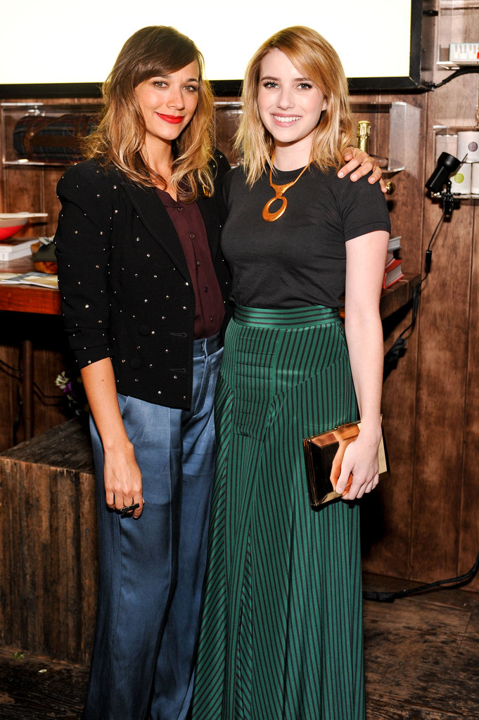 Rashida Jones posed with Emma Roberts at the Wantful: The Art of Giving event in LA.