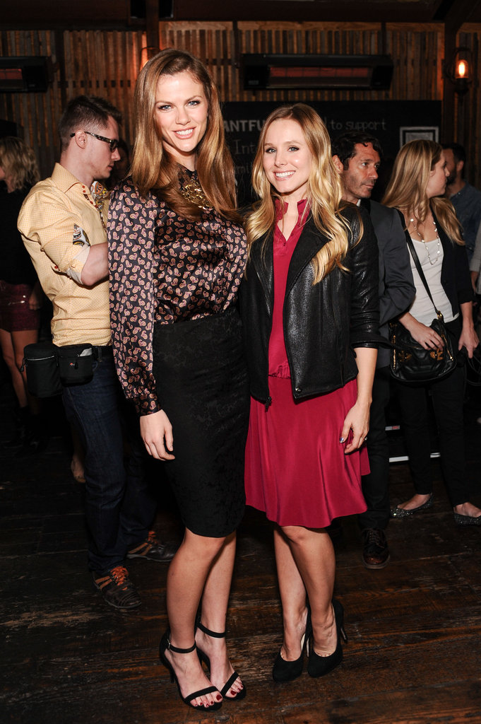 Brooklyn Decker and Kristen Bell enjoyed the event together.