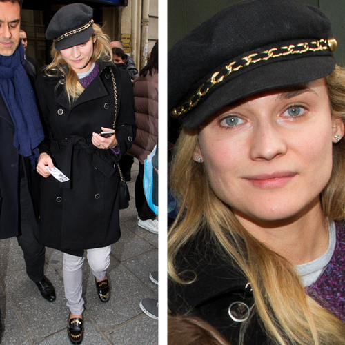 Diane Kruger in Black Trench Coat | Video