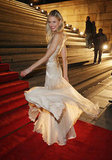 She proved the dress's voluminous appeal by spinning around and showing off its delicate layers.