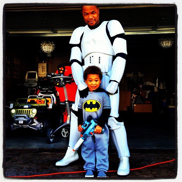 Storm Trooper and Batman So cute: rapper Xzibit and his son went as a Storm Trooper and the tiniest Batman. Source: Instagram user xzibit