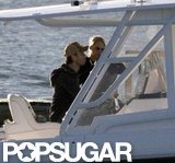 Enrique Iglesias and Anna Kournikova took a boat out around Miami.