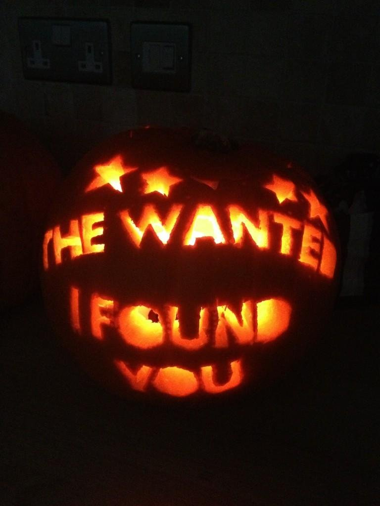 The Wanted retweeted a photo of a creative pumpkin carving. Source: Twitter user AbbieSykes_TW