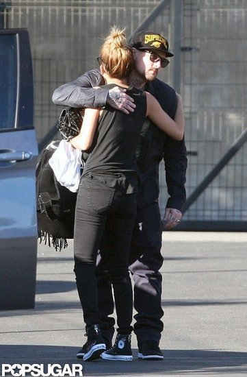 Nicole Richie Gives Benji Madden a Goodbye Hug