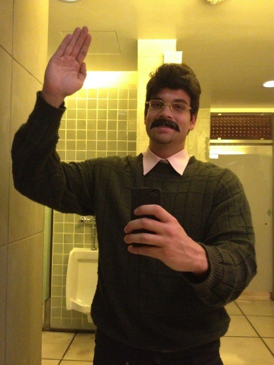 Glee's Mark Salling went as The Simpsons character Ned Flanders. Source: Twitter user MarkSalling