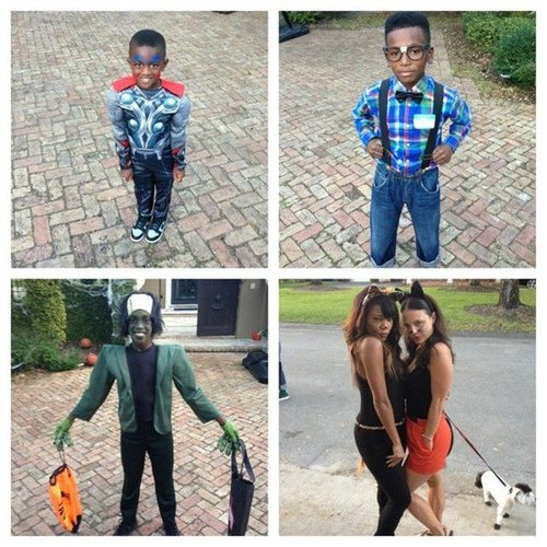 Basketball star Dwyane Wade went trick-or-treating with his adorable family. Source: Instagram user thewayofwade