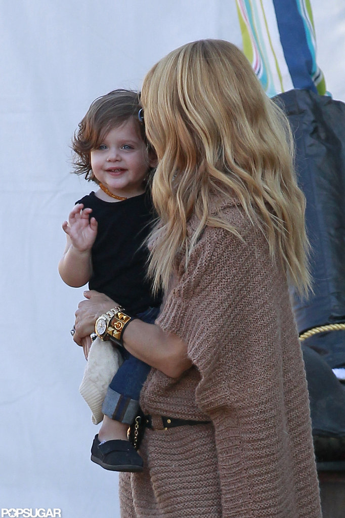 Rachel Zoe carried her son, Skyler, in LA.