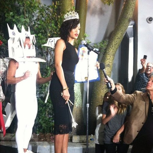 Rihanna was crowned queen of this year's West Hollywood Halloween parade.  Source: Instagram user celebstyle