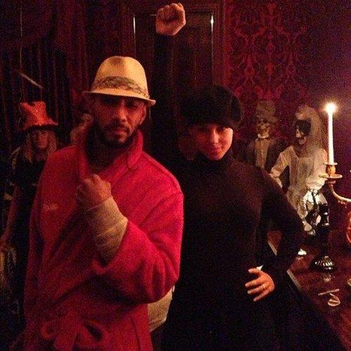 Swizz Beatz and Alicia Keys dressed up in NYC. Source: Instagram user therealswizzz