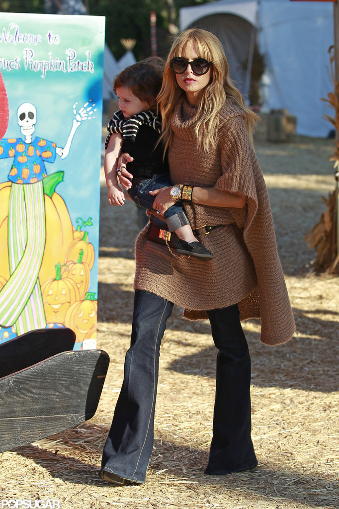 Rachel Zoe wore jeans for an outing with son Skyler in LA.