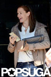 Jennifer Garner smiled in LA.