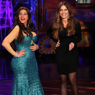 Ellen DeGeneres Dresses as Sofia Vergara For Halloween 2012