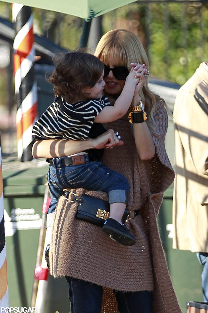 Rachel Zoe spent some time with her son, Skyler, in LA.