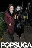 Jamie Hince and Kate Moss dressed as Gomez and Morticia Adams for a star-studded Halloween party in October 2012.
