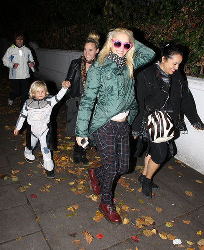 Gwen Stefani took Zuma Rossdale trick-or-treating in London in 2012. .
